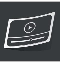 Monochrome mediaplayer sticker vector