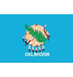 Oklahoma flag vector image vector image