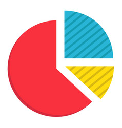 Pie chart flat icon business and diagram vector