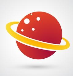 Planet Icon vector image vector image
