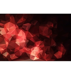 Red black abstract background polygon vector image vector image