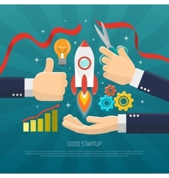 Startup Concept Flat vector image vector image