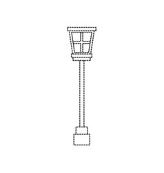Street lamp vintage icon image vector