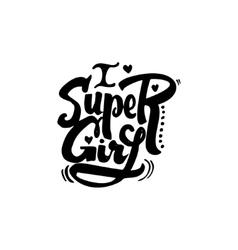 Super girl Calligraphic patch Unique Custom vector image
