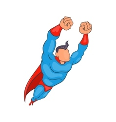 Flying superhero icon cartoon style vector image