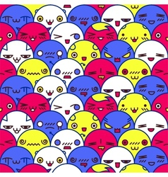 Cute cartoon pattern Eps8 vector image