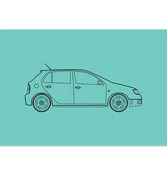 Car from the side vector image