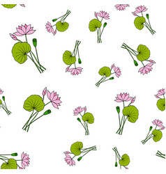 seamless pattern with lotus vector image