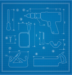 Blueprint building tool vector