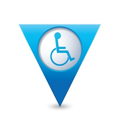 Handicap symbol on pointer blue vector