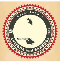 Vintage label-sticker cards of antigua and barbuda vector