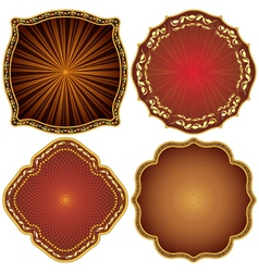 Ornate decorative golden frames vector