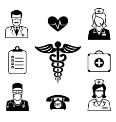 Medical and Health care icons vector image