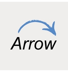Arrow icon logo emblem vector