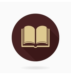Fine flat icon with book vector
