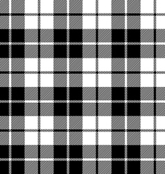Fabric texture seamless pattern black tartan vector