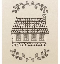 Cute hand-drawn house vector