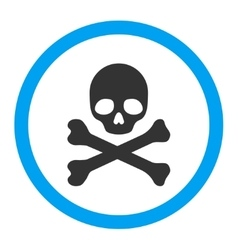 Death rounded icon vector