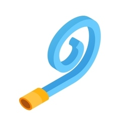 Birthday whistle isometric 3d icon vector