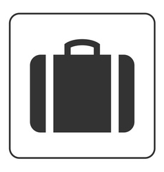 Suitcase icon white vector