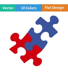 Flat design icon of puzzle decision vector