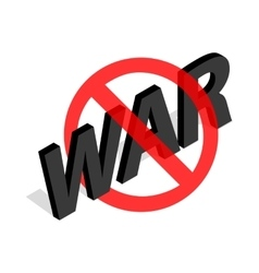 No war sign icon in isometric 3d style vector