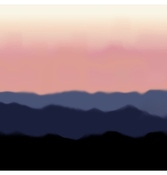 Landscape with mountain and sunrise vector