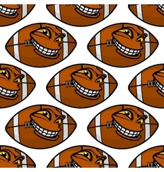 American football balls seamless pattern vector image vector image