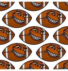 American football balls seamless pattern vector