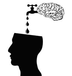brain supply water into head vector image