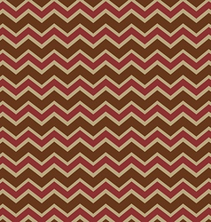 Chevron brown and wine pattern vector image vector image