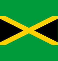 Colored flag of jamaica vector