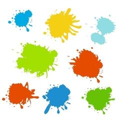 Colorful paint splash vector image vector image