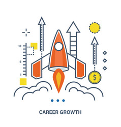concept of career growth and start up business vector image vector image