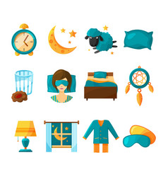 conceptual icon set of sleeping symbols of vector image vector image