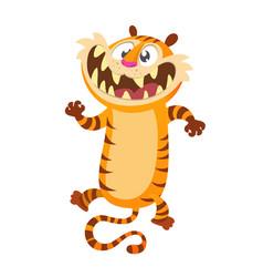 Cute cartoon tiger character vector