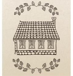 Cute hand-drawn house vector