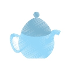 drawing tea pot porcelan coffee vector image