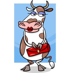 Elegant cow cartoon vector