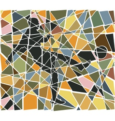 Footballer mosaic vector image vector image