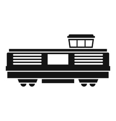 Freight train icon simple style vector