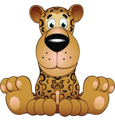 Funny leopard vector image vector image