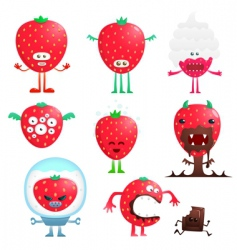 funny strawberry vector image vector image