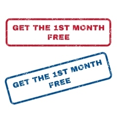 Get the 1st month free rubber stamps vector