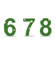 Grass numbers 6-8 vector image vector image