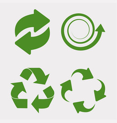 green recycle set vector image