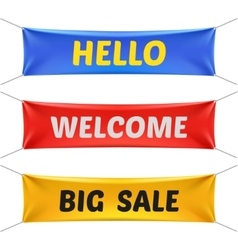 Hello welcome and big sale banners vector image vector image