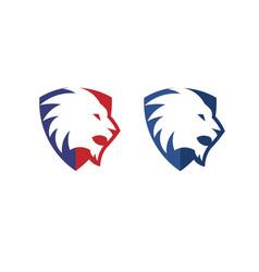 Lion shield creative vector
