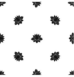 Lotus pattern seamless black vector