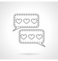 Love chatting flat line icon vector image vector image